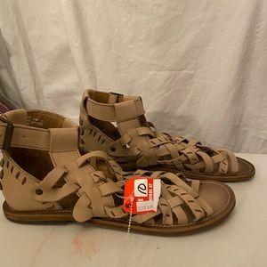 Musse & Cloud tan gladiator sandals 10 NWT
